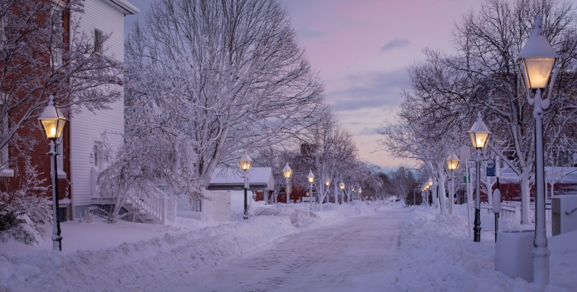 Maine in winter
